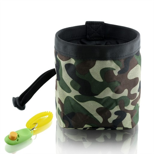 Dog Treat Pouch - Training Bag With Snacks and Toys and Poop Bag Dispenser Carriers - Professional Quality Training Pouch - Green