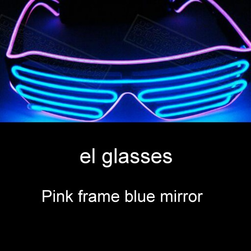 El Wire LED Glasses Glow Glasses Light Up Flashing Shutter Neon Rave Glasses Party For Adults Sunglasses Glow In The Dark Neon Flashing Glasses