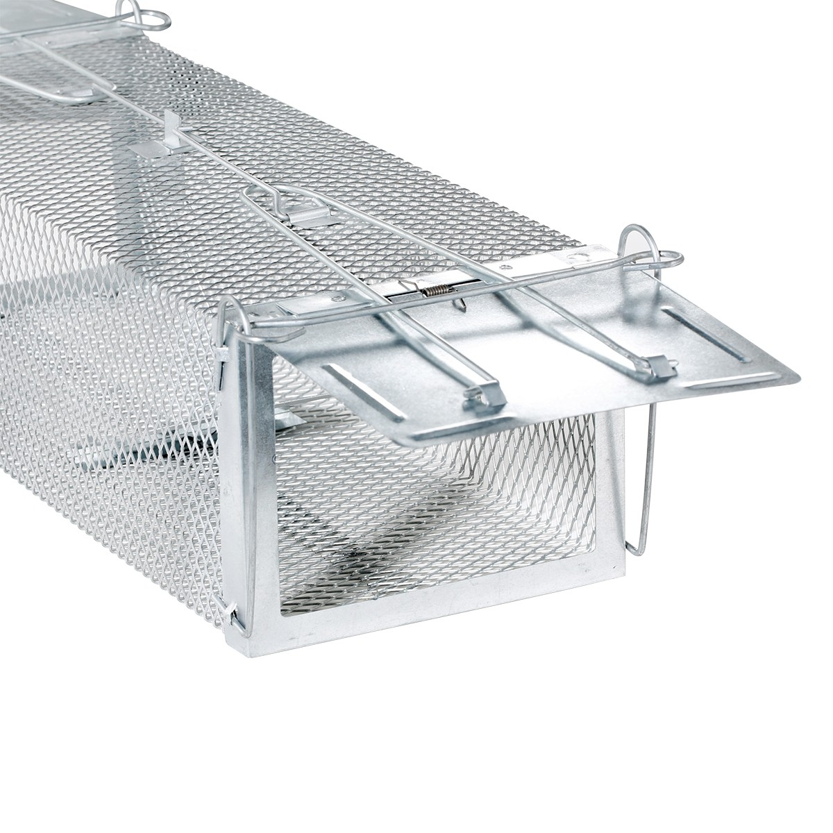 Rat Trap Two Doors 2 Triggers Humane Animal Trap Cage