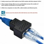 RJ45 Splitter Adapter 1 Male To 2 Female Connector Ethernet Cable LAN Port