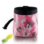 Dog Treat Pouch - Training Bag With Snacks and Toys and Poop Bag Dispenser Carriers - Professional Quality Training Pouch - Pink