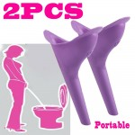 2pc Camping Women Urine Funnel Portable Female Urinal Cup Travel Urination Device