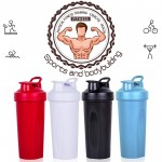 Protein Shaker Bottle mixer Cup 600ml 20-Ounce Classic Loop Top Shaker Bottle