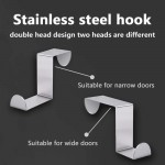 Over The Door Hooks Z Shaped Hanging Hooks 10 Pack S-shaped Rack Heavy Duty For Kitchen, Bathroom, Bedroom And Office
