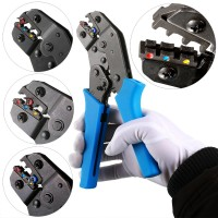 Crimping Tool Wire Crimper Plier Comfort Grip Terminal Wire Connectors Ratcheting For Electricians Contractors, Repair Supports Wiring Projects