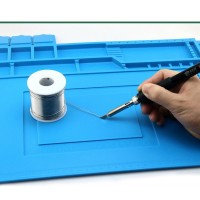 silicone phone repair mat Heat Insulation Repair Mat with Scale Ruler and Screw Position for Soldering Iron Computer Repair Mat