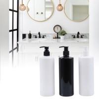 empty lotion Bottle with pump plastic 16 oz / 500 ml Refillable Dispenser for Liquid Soap Shampoo Shower Gel