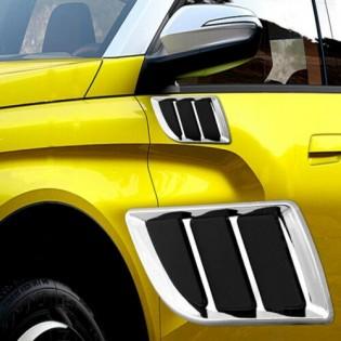 Car Engine Hood Vent Decor Cover Fender Intake Grille Duct Decor Sticker