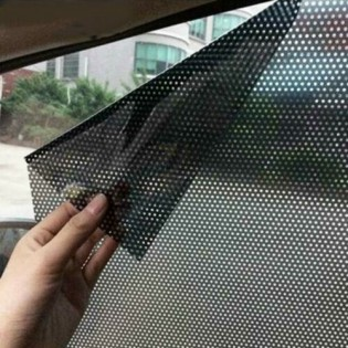 2Pc Car Side Window Sun Shade Cover Visor Sun Block Antistatic Mesh Sticker