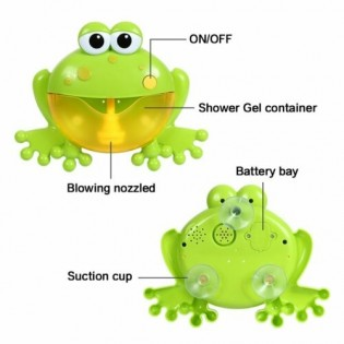 Frog Bubble Machine Bubble Maker Children Bath Shower Toy With Music