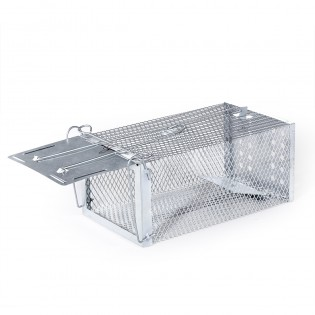 Rat Trap - One Door Trigger Animal Trap Cage for Mouse Squirrel Weasel Hamster Mole and Chipmunk - Medium Size
