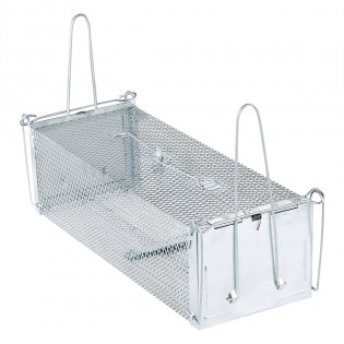Rat Trap - Two Doors 2 Triggers Humane Animal Trap Cage for Mice Squirrel Weasel Hamster Mole and Chipmunk - Medium Size