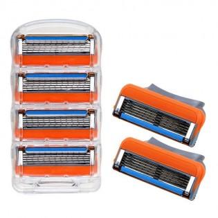 4 PCS 5-Layers Razor Blade Refills Razor Blade Cartridge Blades Replacement For Fusion 5