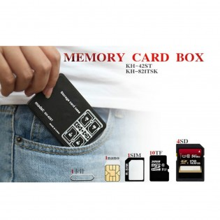 Memory Card Storage Case 24 Slots SD SDHC SDXC TF Carrying Holder Anti-Shock Black