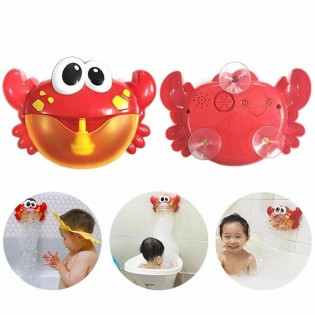 Bubble Machine baby bath toy Bubble Maker with music frog-shaped and crab-shaped optional