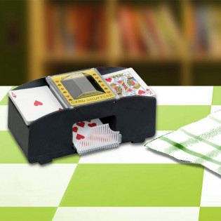 2 Deck Automatic Card Shuffler Casino Dealer Battery-Operated Electric Shuffler Blackjack Poker Quiet