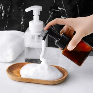 Liquid Soap Foaming Dispenser Plastic Shampoo Facial Cleanser Foam Maker Bottle Pump Bathroom Travel