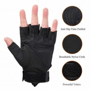 Mens Tactical Gloves Half Fingers Hard Knuckle Motorcycle Military Combat Traing Outdoor Sports Hunting Cycling Climb