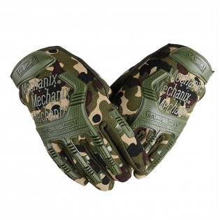 Tactical Full Finger Gloves Combat Military Police Motorbike ATV Hunting Hiking Riding Climbing Outdoor Sports Tactical Rubber Hard Knuckle Gloves For Men M L XL Black Green Camouflage