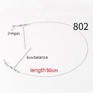 10pc Wire Trace Leader Rig Stainless Steel Fishing Rigs Tackle Lure Swivel Snaps Beads Connect Tackle Lures Rig or Hooks Fishing Wire