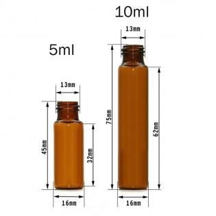 5ml 10ml STEEL ROLLER BALL BOTTLES Perfume Essential amber glass Oil Bottle 10pcs