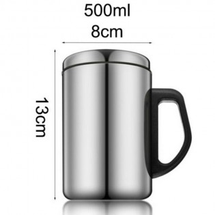 Stainless Steel Cup With Handle With Lid Travel Mug Coffee Mug Tumbler 500ml