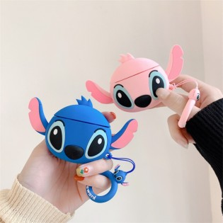 Silicone Airpods 1&2 Protective Case Cover 3D Cute Cartoon Design Airpods Skin Adorable Keychain